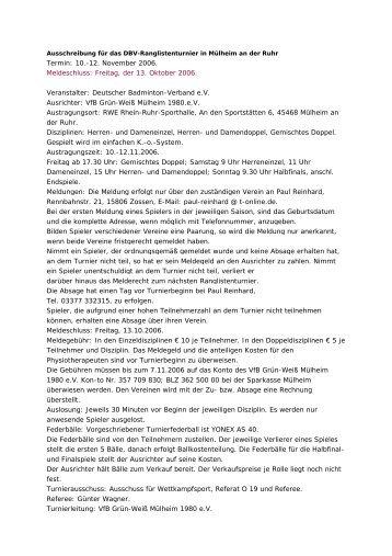Ausschreibung - (BLV-NRW) www