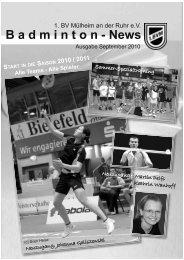 B a d m i n t o n - News - 1. BV Mülheim