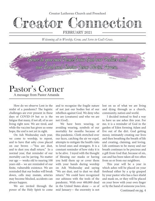 Creator Connection February 2021