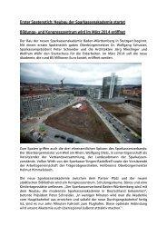 Erster Spatenstich: Neubau der Sparkassenakademie startet ...