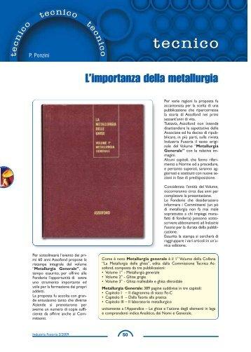La metallurgia delle ghise - Vol. 1