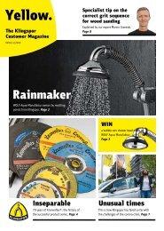 Yellow. The Klingspor customer magazine - Edition 2|2020