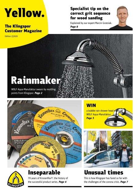 Yellow. The Klingspor customer magazine - Edition 2 2020