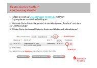 Elektronisches Postfach Kontoauszug abrufen - Sparkasse Holstein