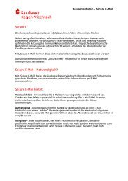 Vorwort Secure E-Mail - Sparkasse Regen-Viechtach