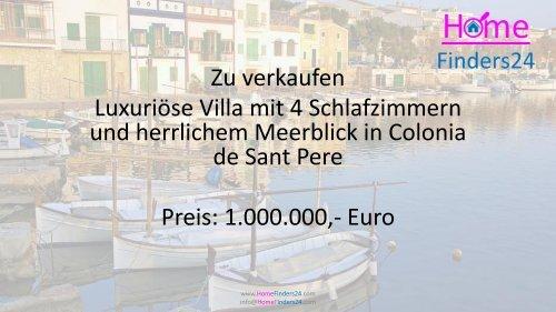 Zu vermieten diese 4-Zimmer-Luxusvilla in Colonia de Sant Pere mit herrlichem Meerblick. (LUX0043)