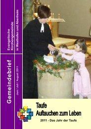 G eme in deb rie f - Evangelische Kirchengemeinde Westhofen und ...