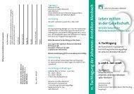 11. Fachtagung der Johannes-Anstalten Mosbach