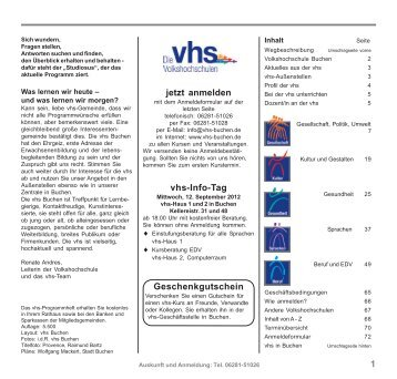 im PDF-Format - vhs Buchen