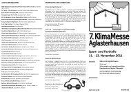 Sport- und Festhalle 11. - 13. November 2011 - Solarverein für ...