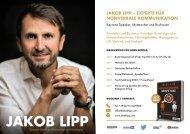 Keyfacts Jakob Lipp - Keynote Speaker, Mutmacher und Mentalist