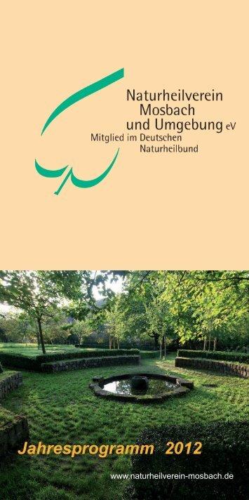 Jahresprogramm 2012 - Naturheilverein Mosbach