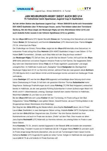 JAN NEUBURGER-HIGBY SIEGT AUCH BEI U14