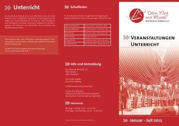 VERANstAltUNGEN UNtERRicht >> >> Januar - Musikschule ...