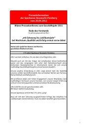 Presseinformation der Sparkasse Neumarkt-Parsberg vom 20.04.2012