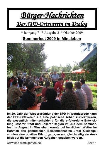 Sommerfest 2009 in Minsleben - SPD Wernigerode