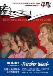 Chronik des Chorensembles »Frischer Wind