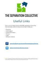 The Separation Collective's Useful Links Booklet