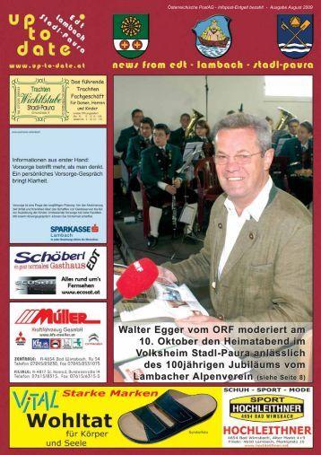 Walter Egger vom ORF moderiert am 10. Oktober den ... - Up-to-date