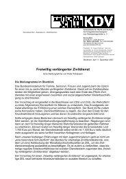 Freiwillig verlängerter Zivildienst - Zentralstelle KDV