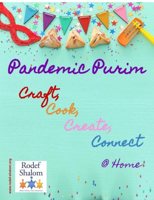 Rodef Shalom Purim in Paradise @ Home