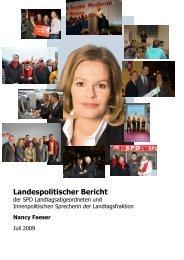 Allgemeiner Landespolitischer Bericht - Nancy Faeser MdL