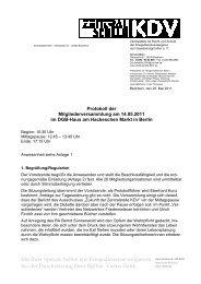 Nachtragshaushalt 2011 - Zentralstelle KDV