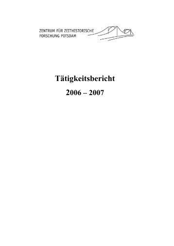 Tätigkeitsbericht - Zentrum für Zeithistorische Forschung Potsdam