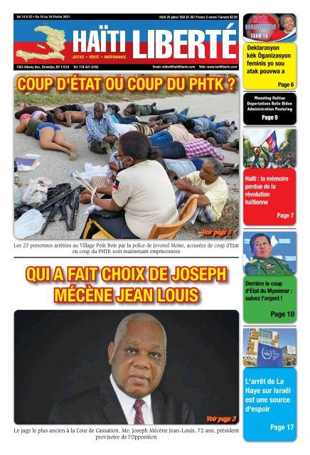 Haiti Liberte 10 Fevrier 2021