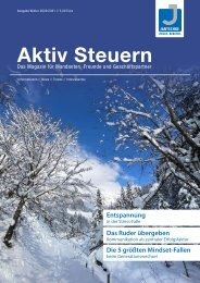 Aktiv Steuern 2021 Winter vom Digitalen Steuerberater Jantschke in Herzogenaurach