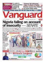 11022021 - Nigeria failing on account of insecurity — SENATE