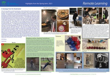 Kew House School Remote Learning News