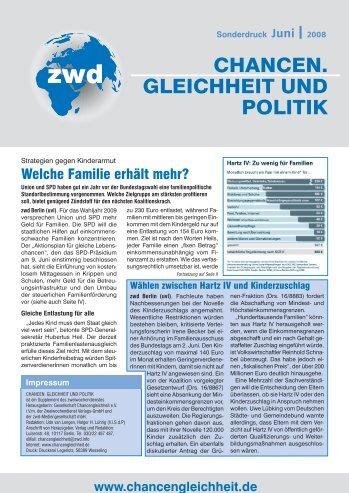 Aktionsplan für gleiche Lebenschancen - ZWD - Zweiwochendienst ...