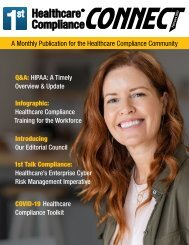 First Healthcare Compliance CONNECT February 2021