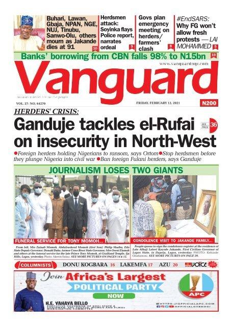 12022021 - Ganduje tackles el-Rufai on insecurity in North-West