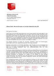 Professioneller Brief - SPD Lorch