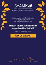 Virtual International Week organised by SeAMK
