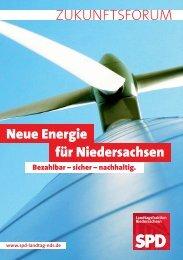 Neue Energie für Niedersachsen Bezahlbar – sicher - SPD-Fraktion ...