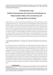 Christoph Butterwegge Politische Kommunikation und ...