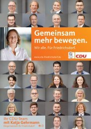 Broschüre CDU Friedrichsdorf