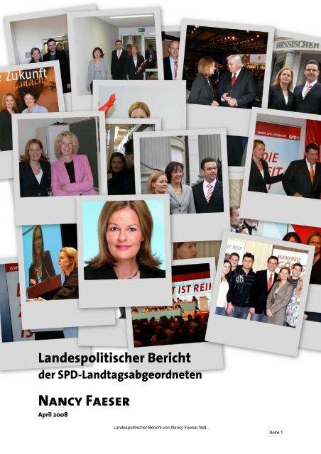 Landespolitischer Bericht der SPD ... - Nancy Faeser