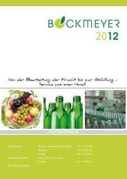 Unseren Katalog finden Sie im - Bockmeyer Kellereitechnik GmbH