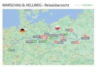 Karte zur Reise WARSCHAU & HELLWEG