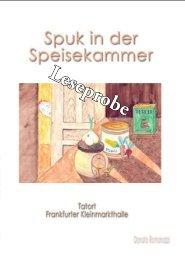 Leseprobe Spuk in der Speisekammer - Hierophant-Verlag