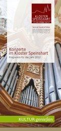 Konzerte im Kloster Speinshart 2012 - Zweite Auflage