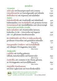 Speisekarte Vorspeisen Suppen Vegetarische und ... - Rappenhof