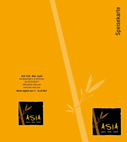 Speisekarte - Asia Enns