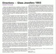 Exhibition Catalogue: Directions - Glass Jewellery 1993