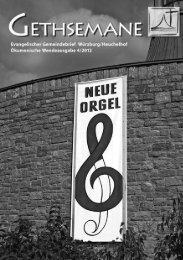 Konzert in Gethsemane - Evangelisch-Lutherische ...