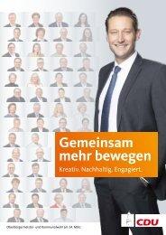Kommunalwahl-Broschüre CDU Bad Homburg
